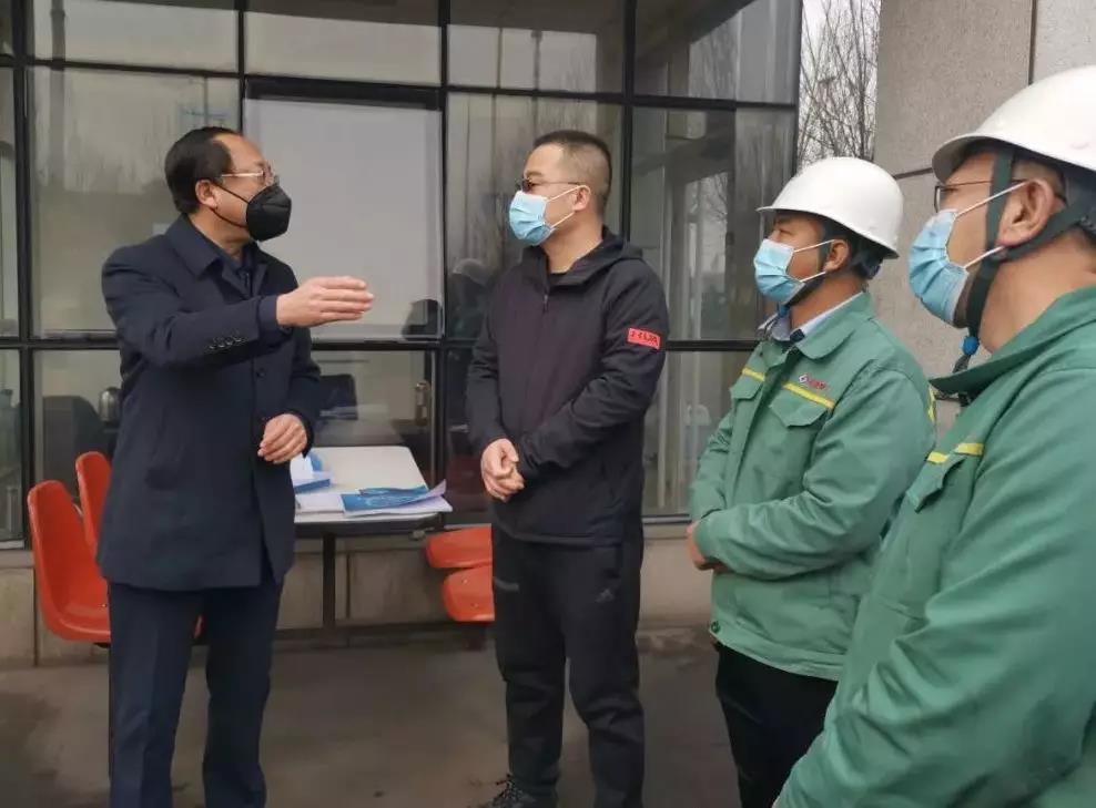 孝义市副市长王勇一行来我公司检查督导疫情防控工作